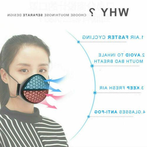 Reusable Washable Separate Nose Mouth Mask Carbon Filter Purify