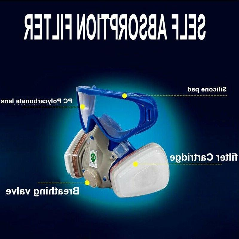 Full Respirator Goggles Double Breathing