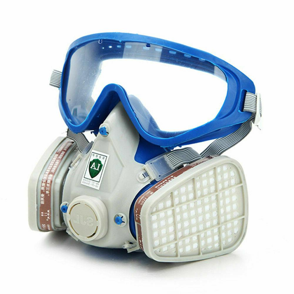 Full Face Respirator Goggles Paint spraying Double