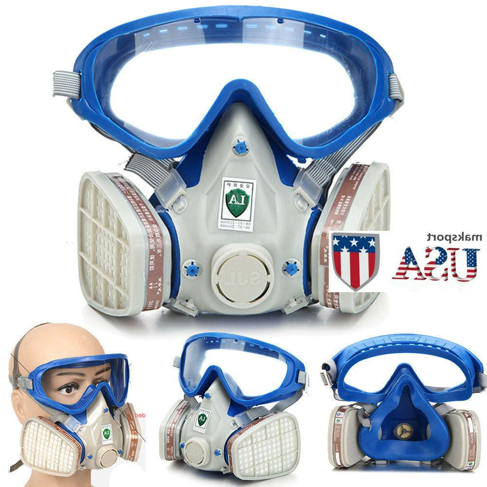 us full face respirator mask double filter