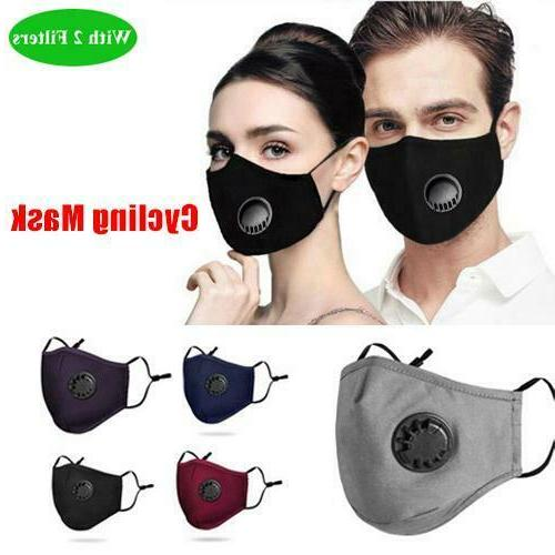 Washable Reusable Anti Air Pollution Face Mask With Respirat