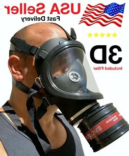 Mask Full Face Head Ventilative Biochemical Gas Mask Widely