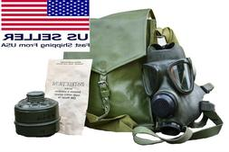 Military Tactical Full Face Gas Mask Respirator M74 w 40mm F
