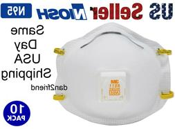 3M 8511PB1-A-PS Particulate N95 Respirator with Valve 10-Pac