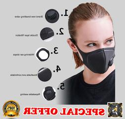PM2.5 RESPIRATORY BREATHABLE ANTI-DUST HAZE FLU FACE MOUTH M