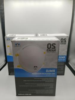 Pyramex N95 Particulate Respirator Mask Lot of 3 boxes New G