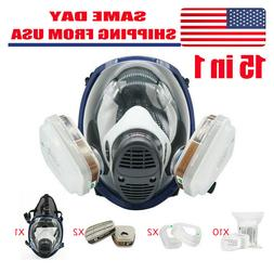Full Face Respirator 15 in 1 Gas Mask For Spraying Painting