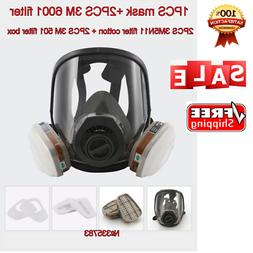Respirator Gas Mask Combination 3M 6001, SJL filter 3M 5N11