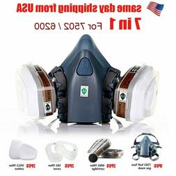 Respirator Half face Gas Mask w/Dual Filter Emergency Surviv