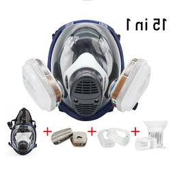 Respirator Mask Full Face Gas Paint Chemicals Safety Mask Si