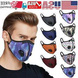 Resuable Face Mask Mouth Cover w/ Active Carbon Filter Respi