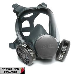Full Face Respirator Mask for Coronavirus Protection with Ca
