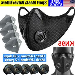 Reusable Double Vent Face Mask With valve + Carbon Filter Pa