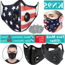 Reusable Washable Face Mask With Breathing valve &10X Filter