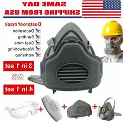 Safety Gas Mask Respirator Half Face Protect F Painting Spra