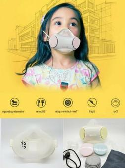 SMART Kids PPE Face Mask, Electronic Fresh Air Purifier Resp