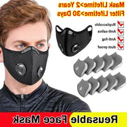 Sports Mouth Mask 10pcs Filter Pads valve Air Purifying face