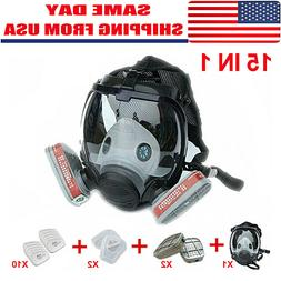 US 15 in 1 For 6800 Facepiece Respirator Gas Mask Full Face