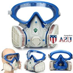 US Full Face Respirator Mask Double Filter Air Protect Breat