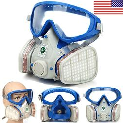 US Full Face Respirator Mask Double Filter Air Breathing Che