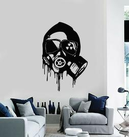 Vinyl Wall Decal Respirator War Military Gas Mask Biohazard